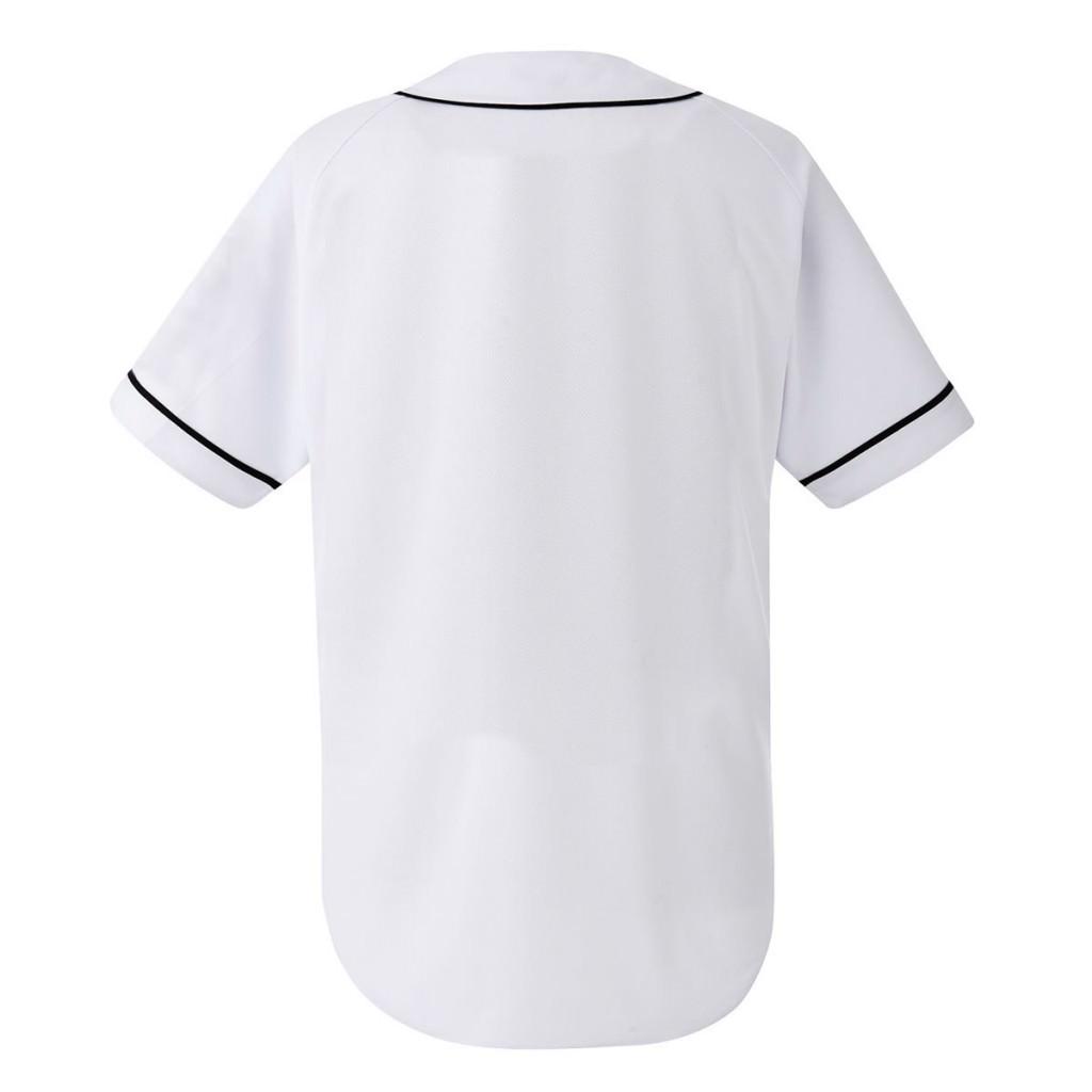 激安クラスティーシャツ野球ユニフォーム(ホワイト×ブラックライン)ベースボールシャツ画像2