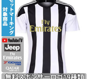(S~2XL)オリジナルストライプサッカーユニフォーム ホワイト×ブラック