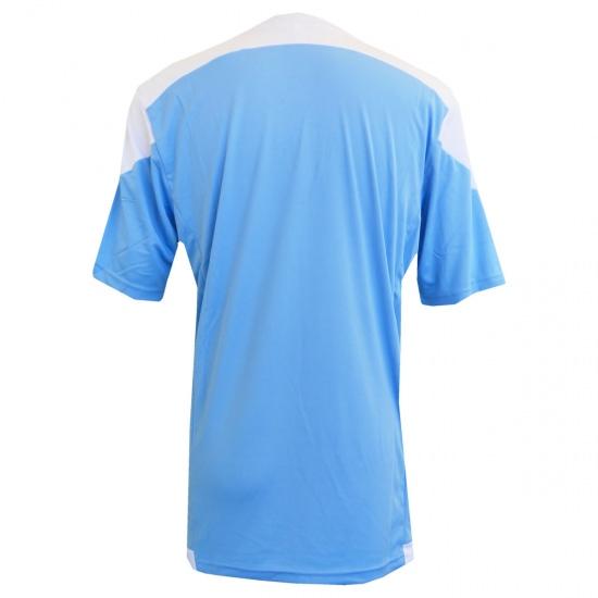 激安クラスティーシャツ(S~2XL)オリジナルストライプサッカーユニフォーム ホワイト×サックス画像2