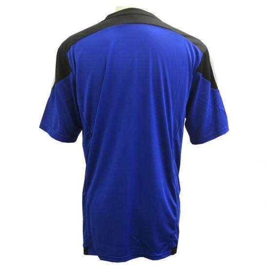 激安クラスティーシャツ(S~2XL)オリジナルストライプサッカーユニフォーム ブルー×ブラック画像2