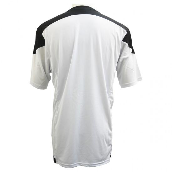 激安クラスティーシャツ(S~2XL)オリジナルストライプサッカーユニフォーム ホワイト×ブラック画像2