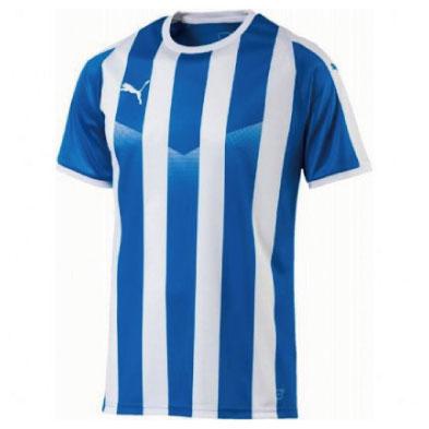 激安クラスティーシャツPUMA ストライプゲームシャツ エレクトリックブルー×ホワイト画像1