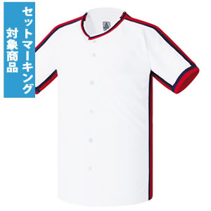 激安クラスティーシャツ野球ユニフォーム(ホワイト)ベースボールシャツ画像1