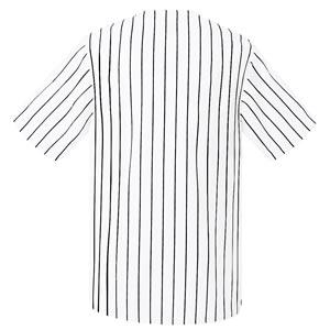 激安クラスティーシャツ野球ユニフォーム(ホワイト×トライプ)ベースボールシャツ画像2