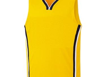 バスケットボールユニフォーム【イエロー】FUS-26657
