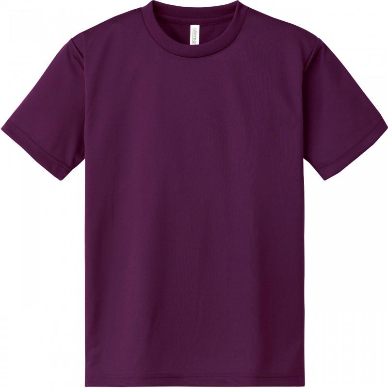 激安クラスティーシャツドライTシャツ パープル画像1