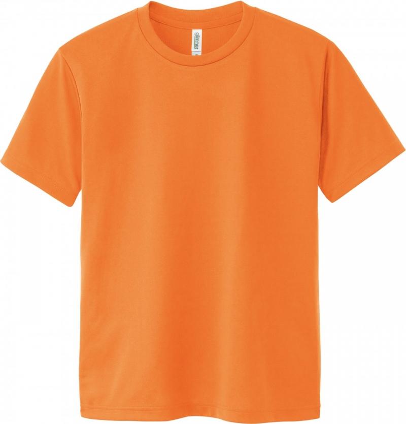 激安クラスティーシャツドライTシャツ オレンジ画像1