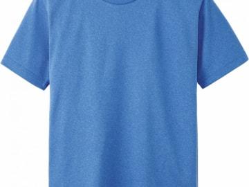 ドライTシャツ ミックスブルー