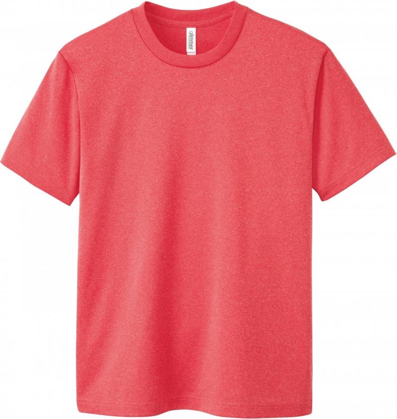 激安クラスティーシャツドライTシャツ ミックスレッド画像1