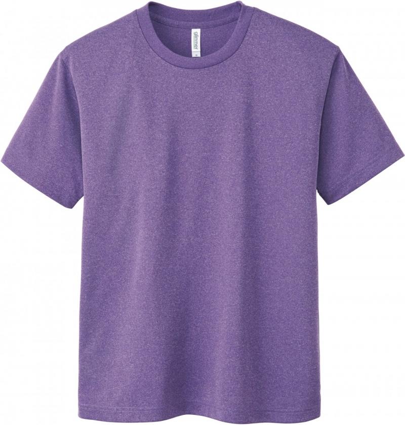 激安クラスティーシャツドライTシャツ ミックスパープル画像1