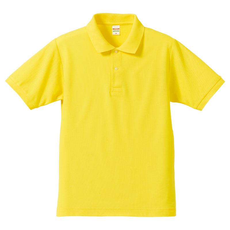 激安クラスティーシャツドライカノコ ポロシャツ イエロー画像1