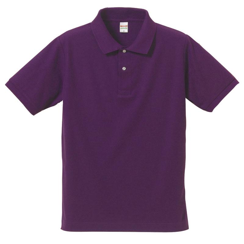 激安クラスティーシャツドライカノコ ポロシャツ パープル画像1