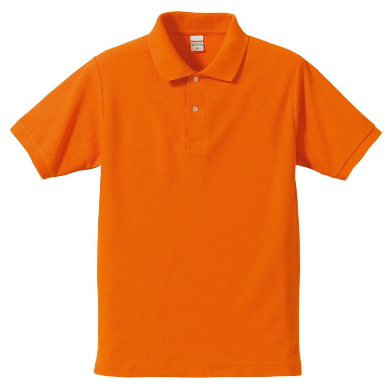 激安クラスティーシャツドライカノコ ポロシャツ オレンジ画像1
