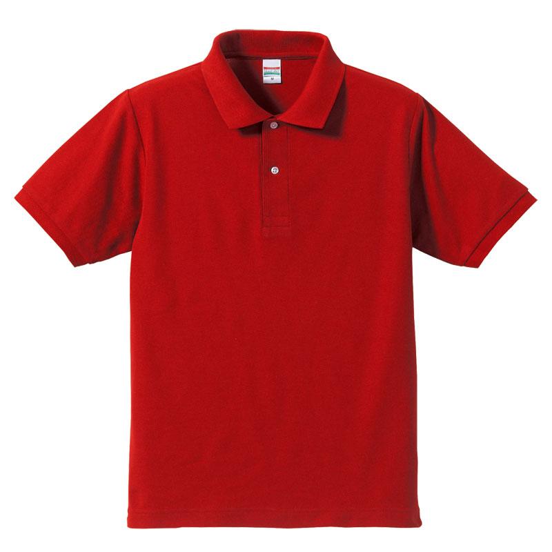激安クラスティーシャツドライカノコ ポロシャツ レッド画像1
