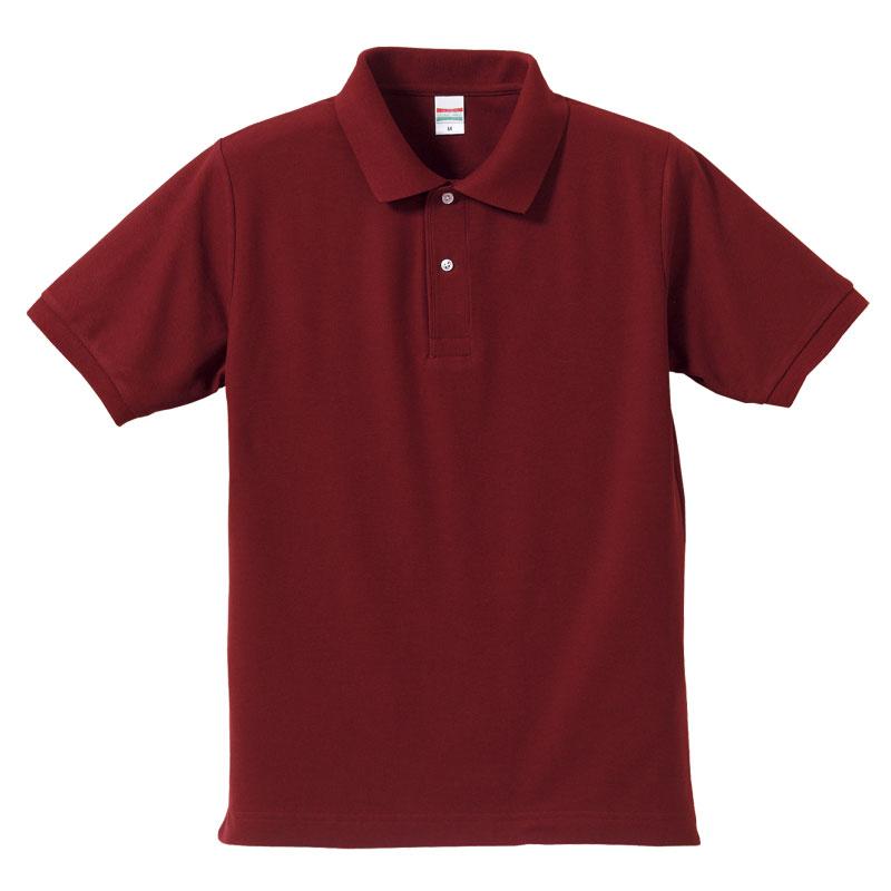 激安クラスティーシャツドライカノコ ポロシャツ バーガンディ画像1