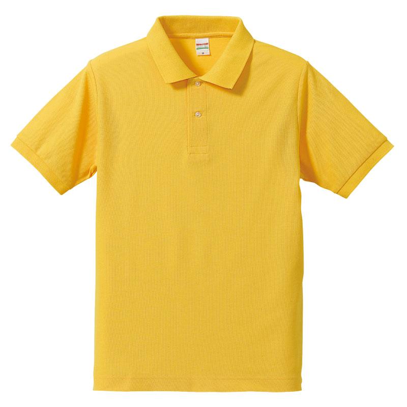 激安クラスティーシャツドライカノコ ポロシャツ カナリアイエロー画像1