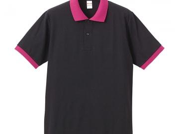 ドライカノコ ポロシャツ ブラック×トロピカル