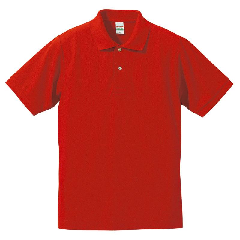 激安クラスティーシャツドライカノコ ポロシャツ ハイレッド画像1