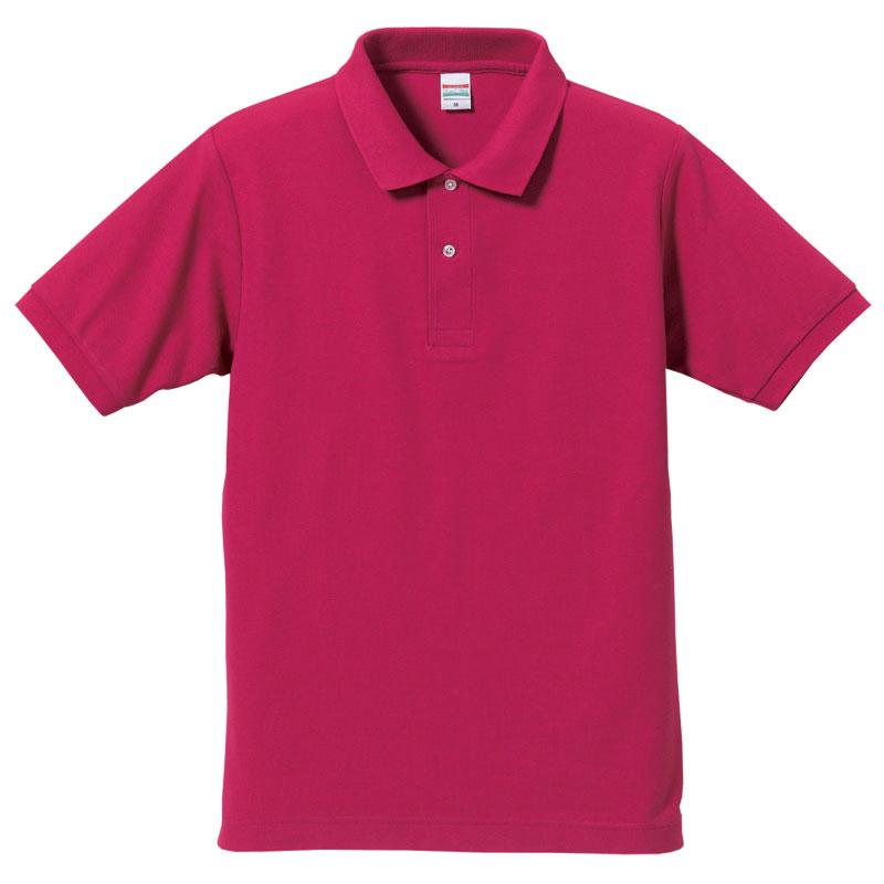 激安クラスティーシャツドライカノコ ポロシャツ トロピカルピンク画像1