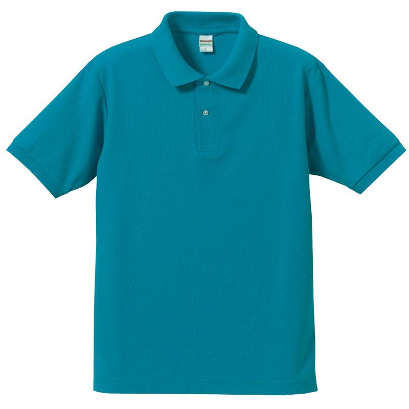 激安クラスティーシャツドライカノコ ポロシャツ ターコイズ画像1