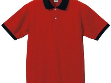 ドライカノコ ポロシャツ レッド×ブラック