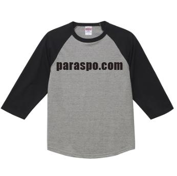 激安クラスティーシャツ3/4スリーブ Tシャツ ミックスグレー×ブラック画像1