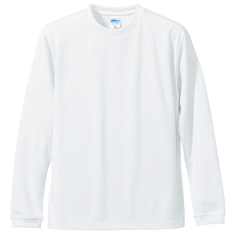 激安クラスティーシャツドライロングTシャツ ホワイト画像1