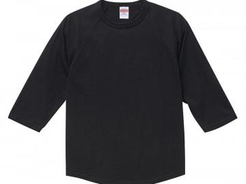 3/4スリーブ Tシャツ ブラック