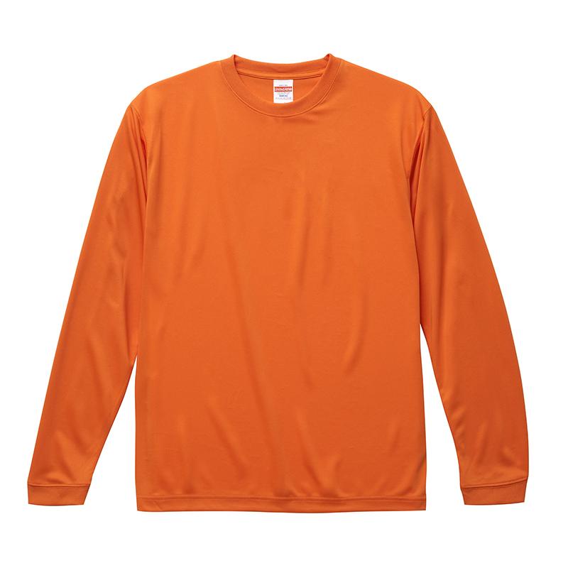 激安クラスティーシャツドライロングTシャツ オレンジ画像1