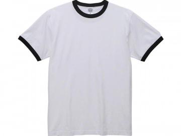 リンガーTシャツ ホワイト×ブラック