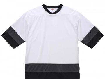 4.1オンス ドライ ホッケー Tシャツ  ホワイト/ガンメタル/ブラック