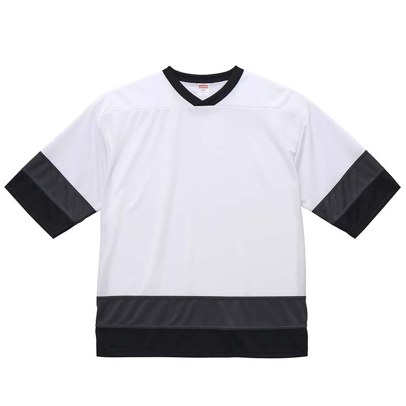 激安クラスティーシャツ4.1オンス ドライ ホッケー Tシャツ  ホワイト/ガンメタル/ブラック画像1