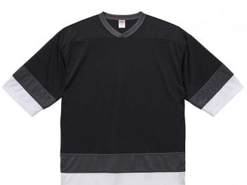 4.1オンス ドライ ホッケー Tシャツ  ブラック/ガンメタル/ホワイト