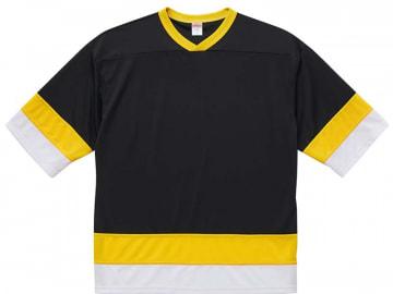4.1オンス ドライ ホッケー Tシャツ  ブラック/イエロー/ホワイト