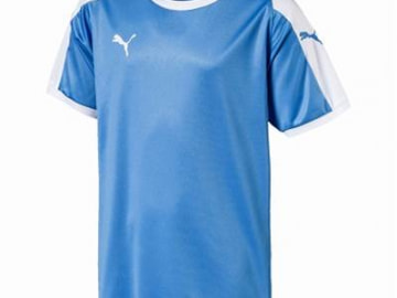 【ジュニア】PUMA LIGA  ゲームシャツ シルバーレークブルー×ホワイト