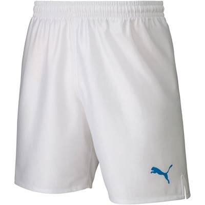 激安クラスティーシャツ【ジュニア】PUMA  LIGA パンツコア ホワイト×ブルー画像1