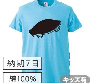 コットン黒板Tシャツ アクアブルー