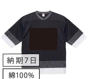 黒板ホッケーTシャツ ブラック×ホワイト