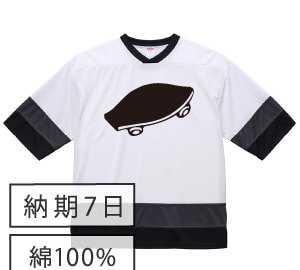 黒板ホッケーTシャツ ホワイト×ブラック