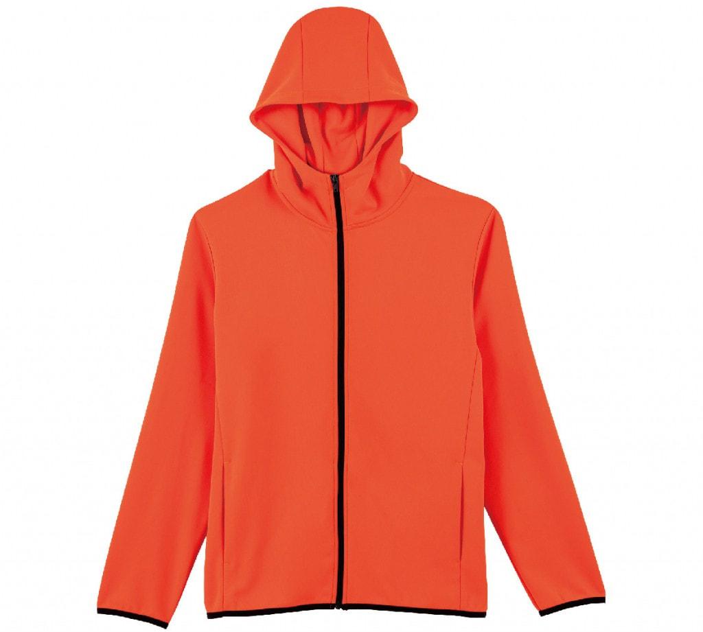 激安クラスティーシャツドライスウェットジップパーカー サンセットオレンジ画像1