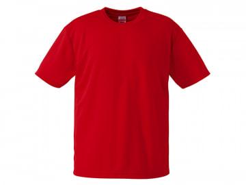 4.1オンス ドライアスレチック Tシャツ ローズレッド