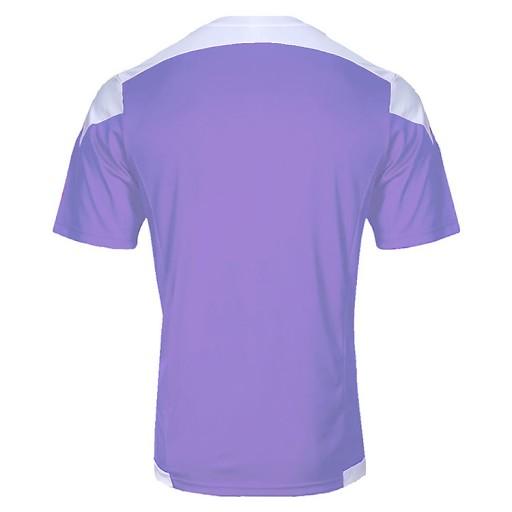激安クラスティーシャツ(S~2XL)オリジナルストライプサッカーユニフォーム パープル×ホワイト画像2