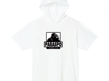 5.6オンス ヘビーウェイトフーディTシャツ ホワイト