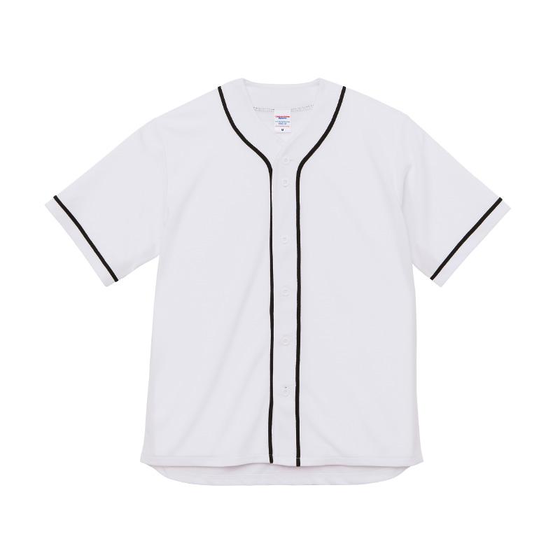 激安クラスティーシャツ4.1オンス ドライ ベースボールシャツ ホワイト/ブラック画像1