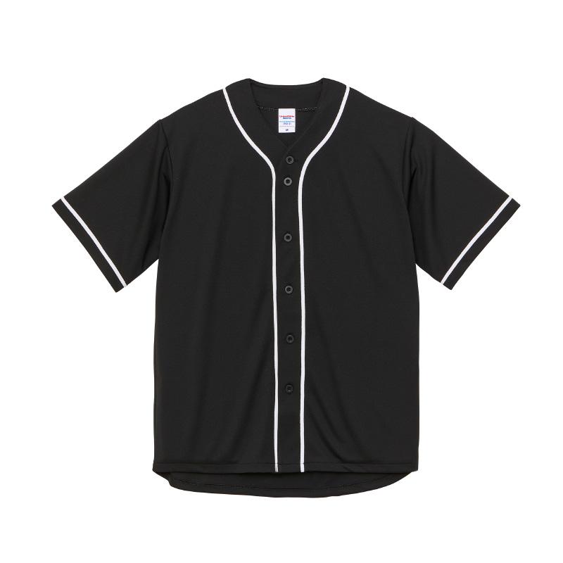 激安クラスティーシャツ4.1オンス ドライ ベースボールシャツ ブラック/ホワイト画像1