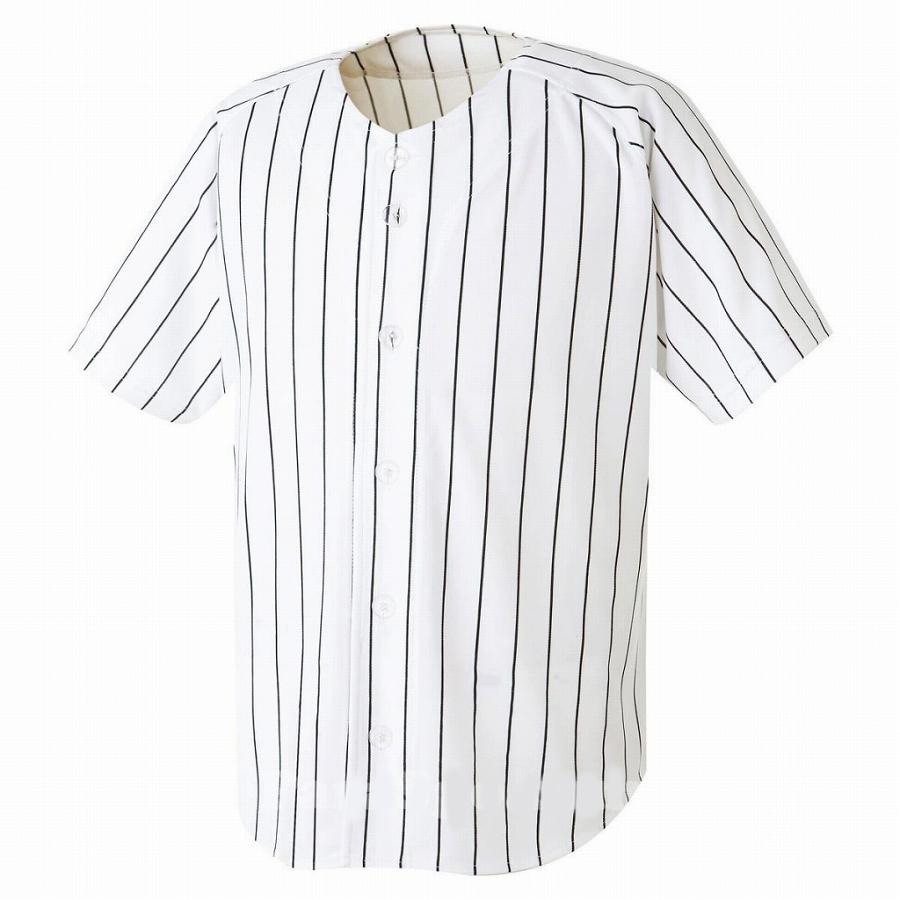 激安クラスティーシャツ野球ユニフォーム(ホワイト×ブラックライン)ベースボールシャツ画像1