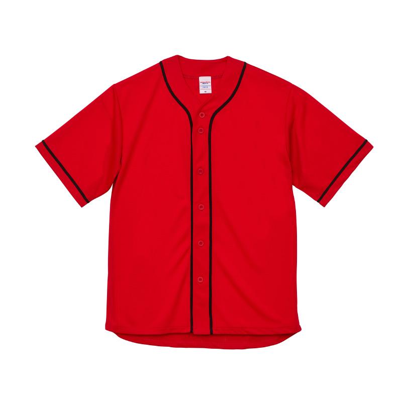 激安クラスティーシャツ4.1オンス ドライ ベースボールシャツ レッド/ブラック画像1