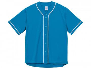 4.1オンス ドライ ベースボールシャツ ターコイズブルー/ホワイト