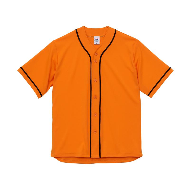 激安クラスティーシャツ4.1オンス ドライ ベースボールシャツ オレンジ/ブラック画像1