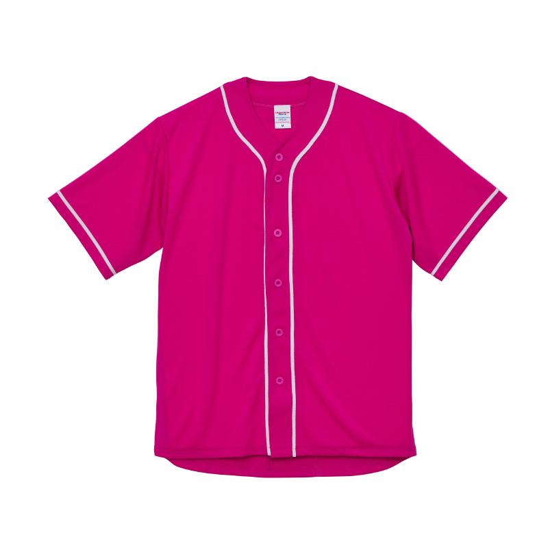 激安クラスティーシャツ4.1オンス ドライ ベースボールシャツ トロピカルピンク/ホワイト画像1